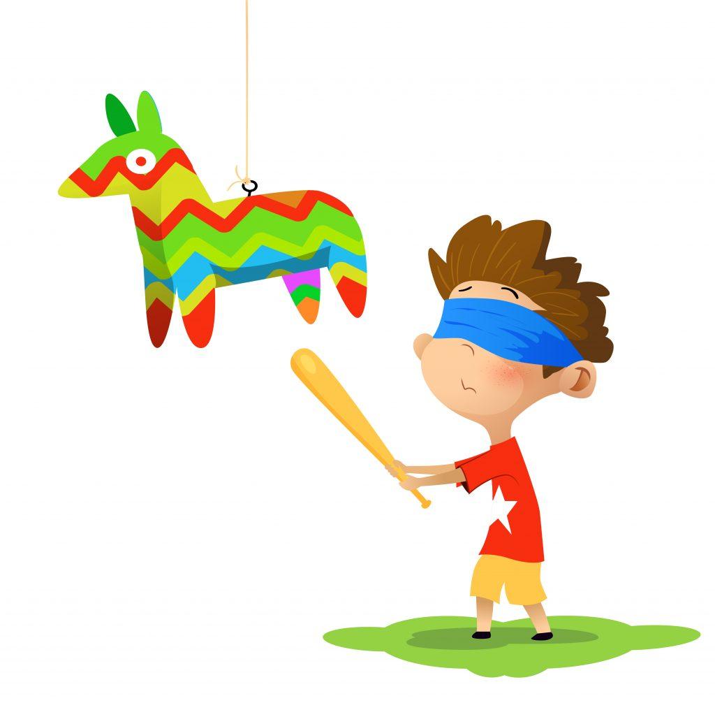 jugar con piñata para cumpleaños
